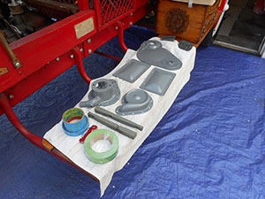 reo painted engine parts