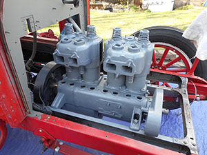 reo painted engine
